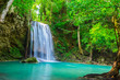 canvas print picture waterfall in the tropical forest where is in Thailand National Park