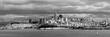 Panorama monochrom Skyline San Francisco