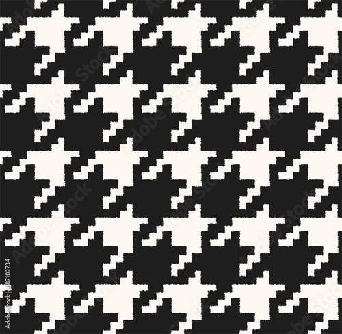 houndstooth seamless pattern. Fabric background Canvas Print