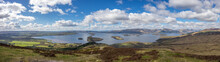 Panoramic View Of Loch Lomond, Biggest Lake In Scotland