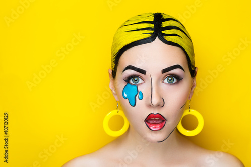 pop art make up Fototapeta