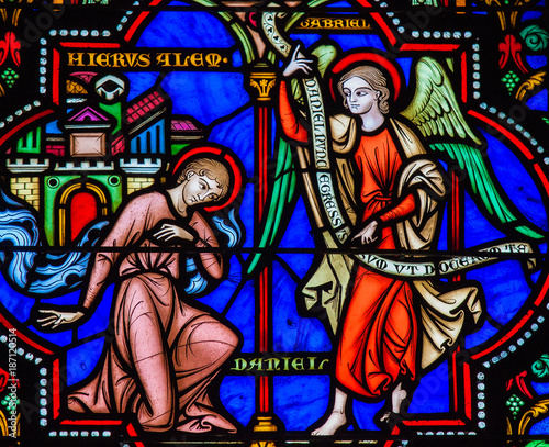 Prophet Daniel - Stained Glass in Brussels Fotomurales