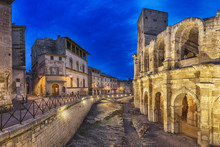 Roman Amphitheatre At Dusk In ...