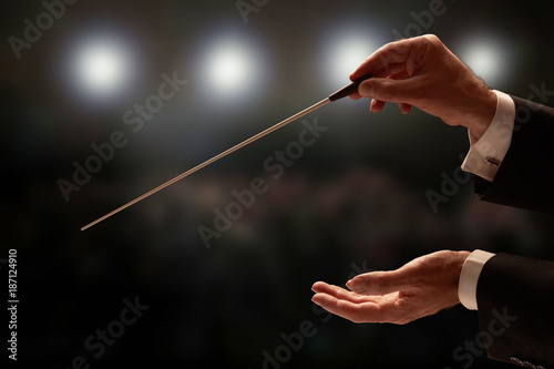 Fotomural  Conductor conducting an orchestra