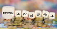 Provision / Münzenstapel Mit Symbole