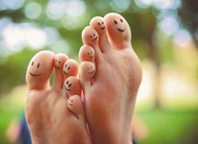 Smiley Faces On A Pair Of Feet...