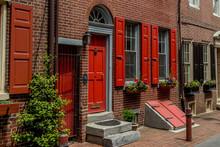 Philadelphia Historic Row Homes.