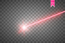 Abstract Red Laser Beam. Isola...
