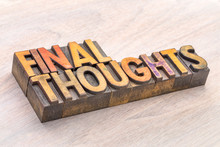 Final Thoughts Word Abstract T...