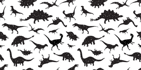 dinosaur Seamless Pattern dino vector isolated wallpaper background
