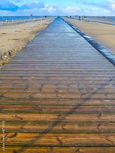 Spoed Foto op Canvas Noordzee Weg ins Meer