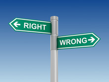 Right Wrong Sign Concept      ...