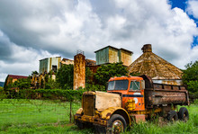 Abandoned Old Koloa Sugar Mill In Kauai, Hawaii