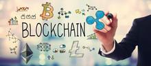 Blockchain With Businessman On...