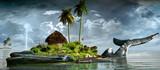 Fototapeta Fototapety z naturą - Island on the back of a whale