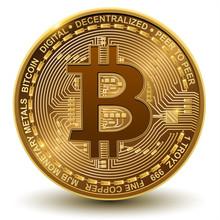 Bitcoin, Realistic Vector Illustration.