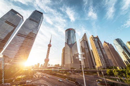 Foto op Plexiglas China The modern building of the lujiazui, Shanghai,China
