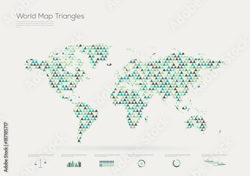 Triangle shape world map infographic vector illustration gumiabroncs Image collections