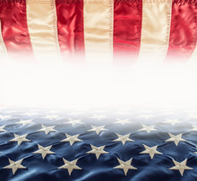 American Flag. Usa Flag. Abstract Perspective Background Of Stripes And Strars With American Symbol -  Flag.