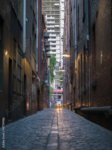 Photo Stands Narrow alley Melbourne lane ways