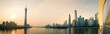 canvas print picture - Guangzhou modern city panorama at sunset