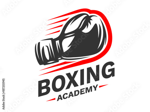 Silhouette of boxing gloves - boxing emblem, logo design, illustration on a whit Tapéta, Fotótapéta