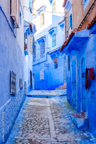 Foto op Plexiglas Trappen Chefchaouen, blue city, Morocco