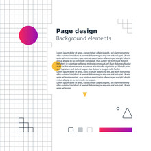 Poster Design Template, Geometric Shapes Gradient, Vector Minimal Background