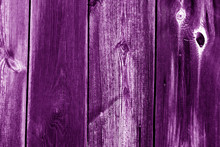 Wood Fence Texture In Purple C...