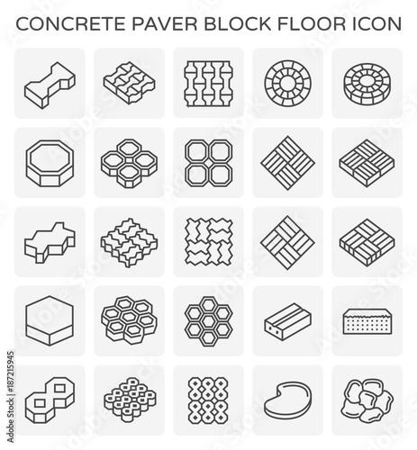 Fototapeta paver block icon