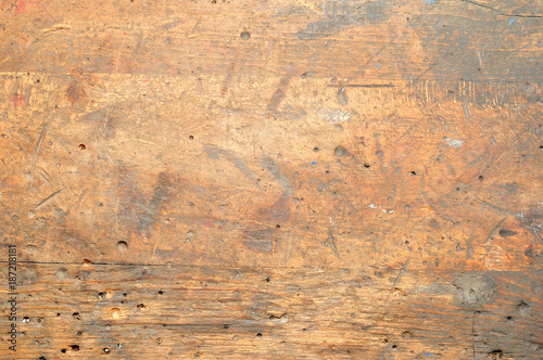 Obraz Old used dirty workbench for background or texture. - fototapety do salonu