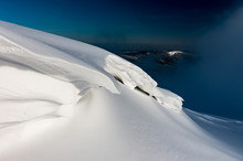 Snow Bank Formation Created By The Wind