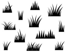 Black Vector Grass Silhouette ...