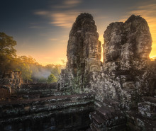 Sunrise View Of Ancient Temple...