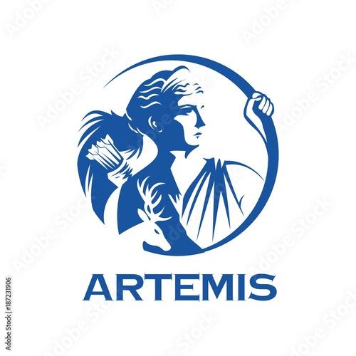 Fotomural greek goddess Artemis illustration