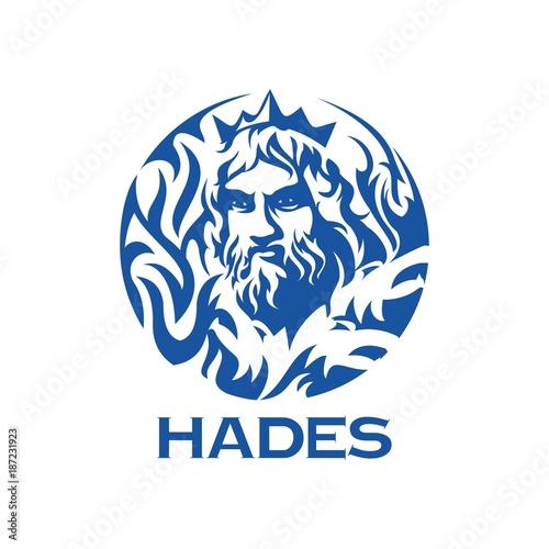 Cuadros en Lienzo greek god Hades illustration