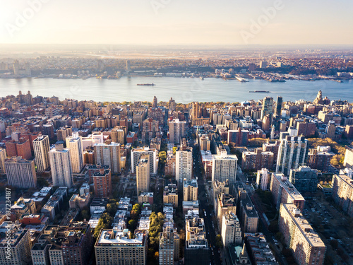 Keuken foto achterwand New York Stunning aerial view of Manhattan and New York