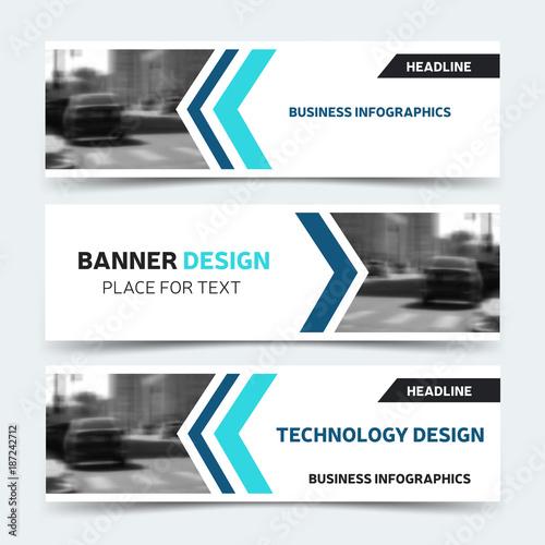 Horizontal business banner templates vector corporate identity horizontal business banner templates vector corporate identity design technology background layout modern blue wajeb Choice Image