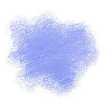 Blue Crayon Scribble Texture Stain Isolated On White Background
