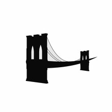 Brooklyn Bridge Silhouette. Bl...