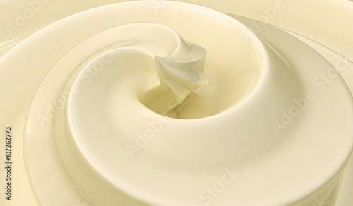 Fotografie, Obraz  Sweet vanilla cream background. 3D rendered illustration.