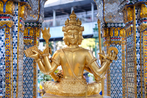 The Erawan Shrine in Bangkok. Thao Maha Phrom Shrine is a Hindu shrine in Bangkok