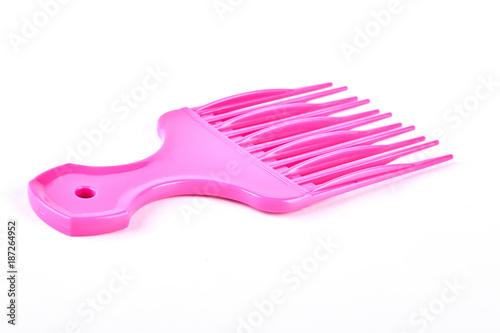 Fotomural Pink plastic afro comb