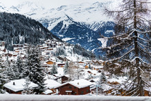 Winter View On The Valley In S...