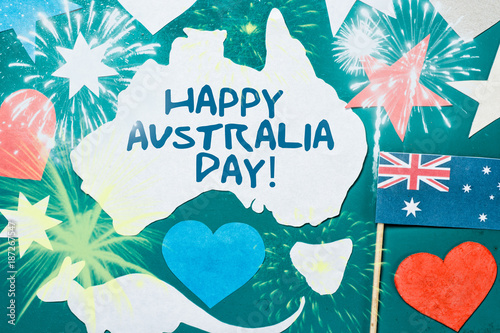 Celebrate australia day holiday on january 26 with a happy australia celebrate australia day holiday on january 26 with a happy australia day message greeting written m4hsunfo