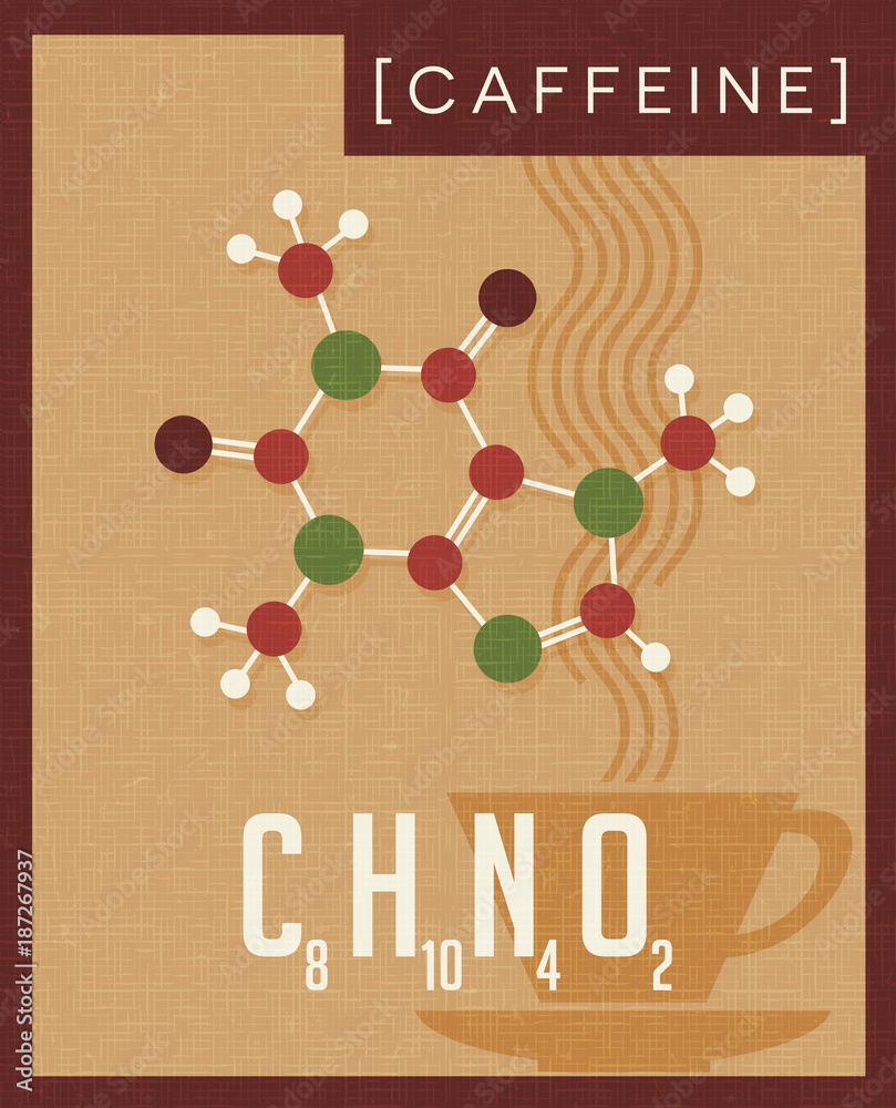 Photo & Art Print Retro scientific poster of the molecular
