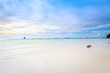 Tropical background with white sand beach