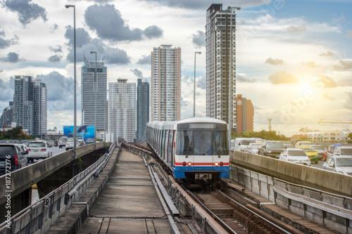 Fotografie, Obraz  BTS train station in Bangkok Thailand