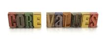 Core Values Wood Block Letter Set W Multiple Colors