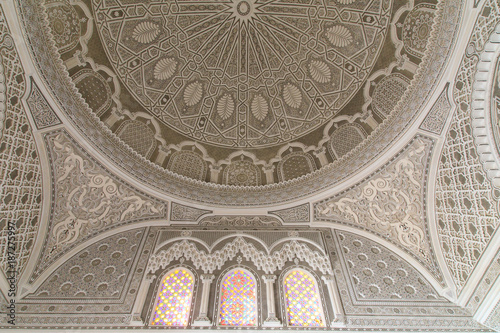 Photo  Ceiling with Islamic Design